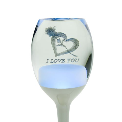 United Entertainment Mood Light LED Love Lamp Wineglass with RGB Lighting